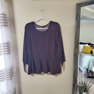 Banana Republic Navy Peplum Top Sz. L